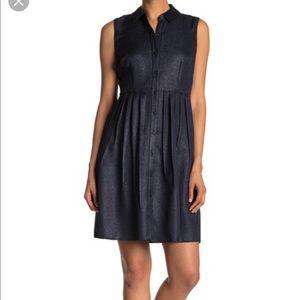 Elie Tahari Samiyah Navy Shimmer Dress